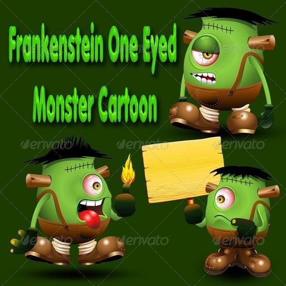 GraphicRiver Frankenstein Monster one Eyed Cartoon 6495427