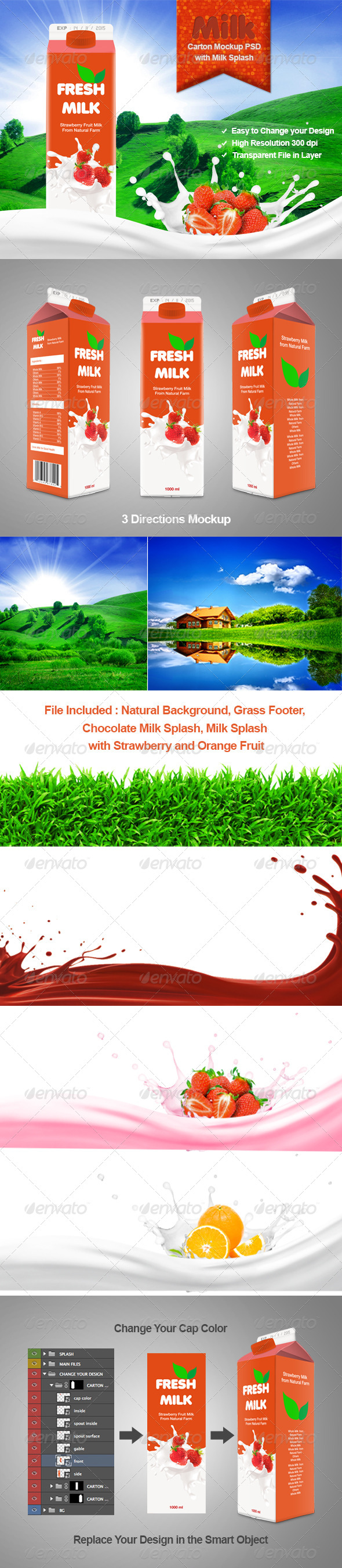 GraphicRiver Milk Carton Mockup 6442567