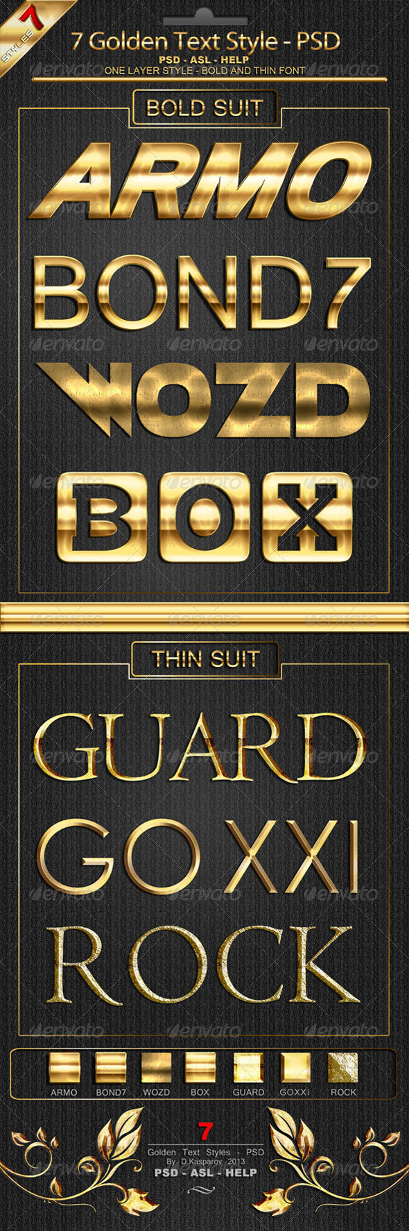 GraphicRiver Golden Text Style Premium for Photoshop 6433752