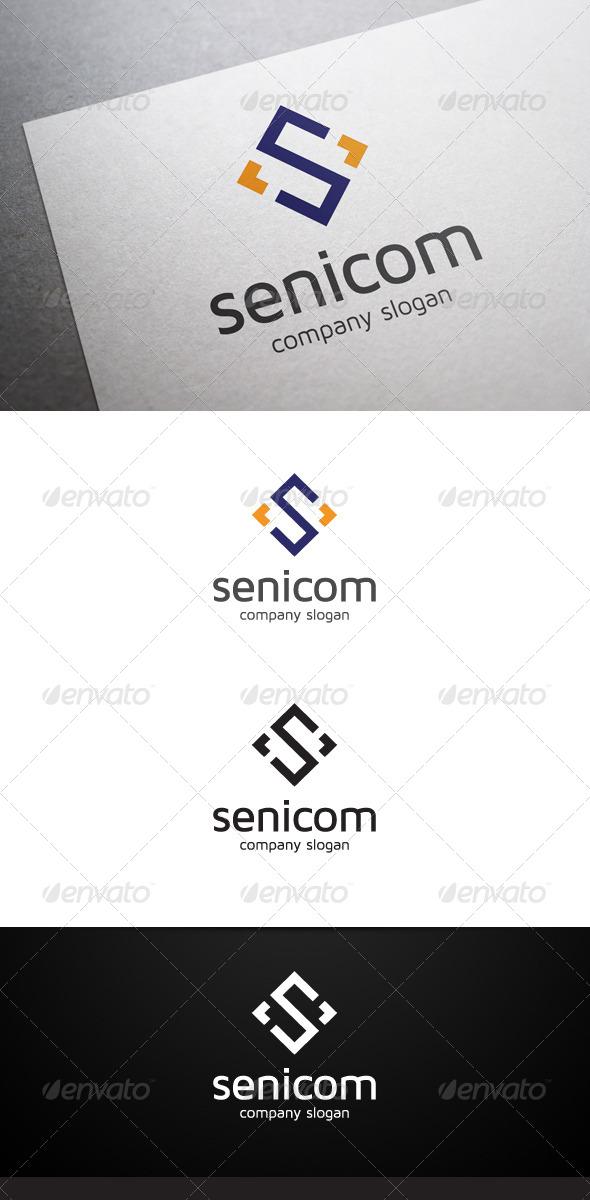 GraphicRiver Senicom S Letter Logo 6496623