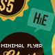 Minimal Lounge Cafe Flyer - GraphicRiver Item for Sale