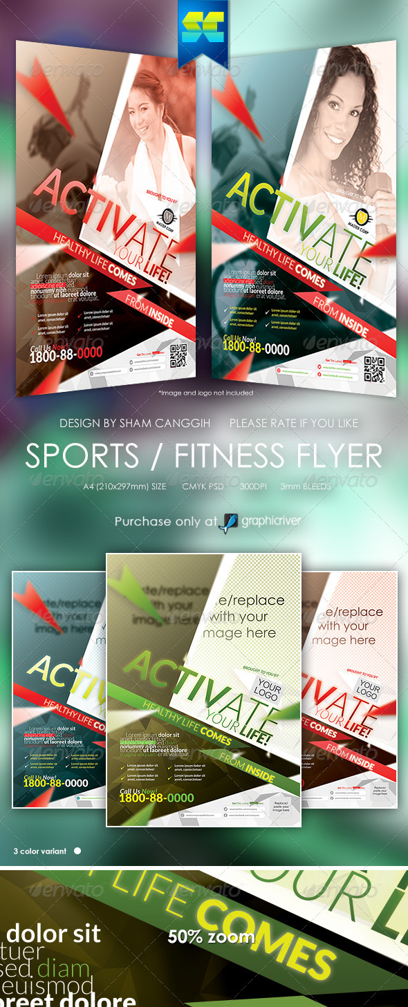 GraphicRiver Sports & Fitness Flyer Magazine Ads 6496640