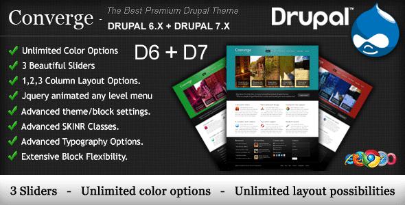 Converge - The Best Premium Drupal Theme.