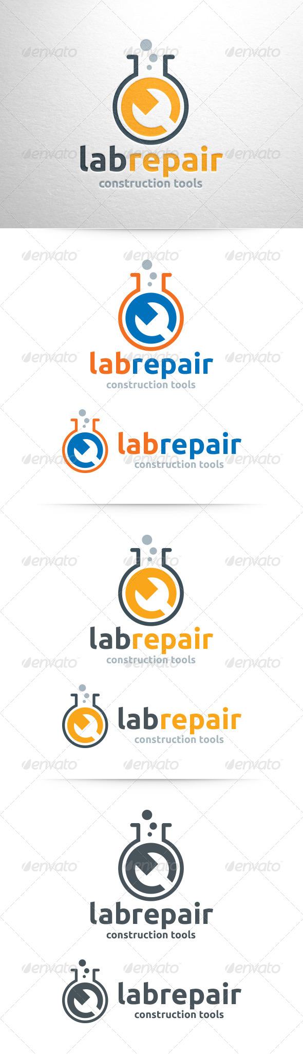 GraphicRiver Lab Repair Logo Template 6497630