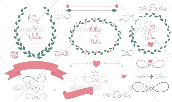 GraphicRiver Set of Wedding Graphic Elements 6497746
