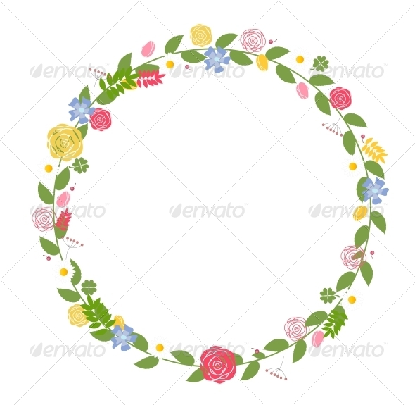 GraphicRiver Floral Frame for Wedding and Birthday Card 6497778