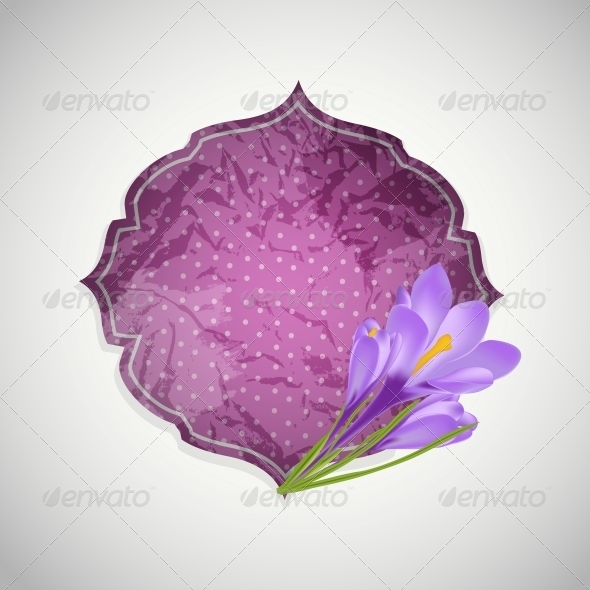 GraphicRiver Aged Paper Label with Flower 6497877