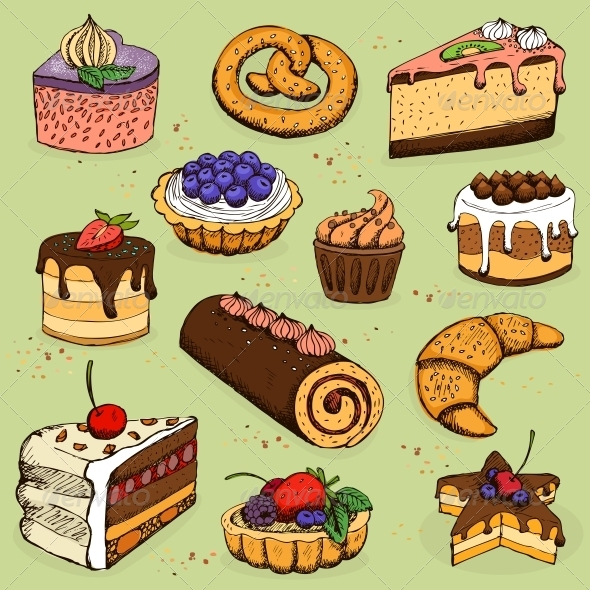 GraphicRiver Pies and Flour Products for Bakery or Pastry 6497987