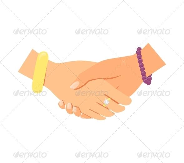 GraphicRiver Business Women Handshake 6498040