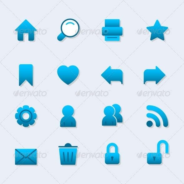 GraphicRiver Basic Icon Set for Web Design 6498049