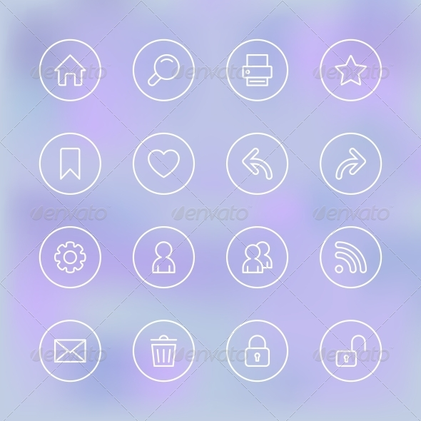 GraphicRiver Transparent Set of Icons for Mobile App UI 6498050