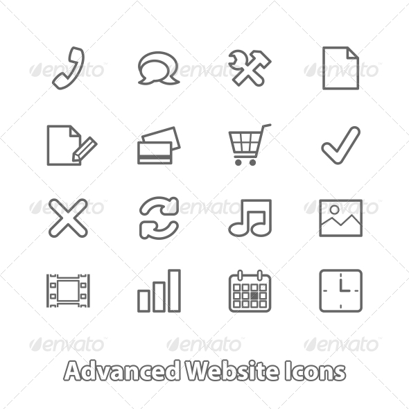GraphicRiver Set of Website Icons for Online Shopping 6498051