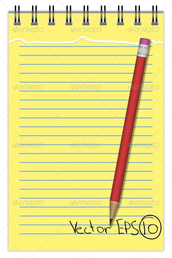GraphicRiver Notebook with Pencil 6498056