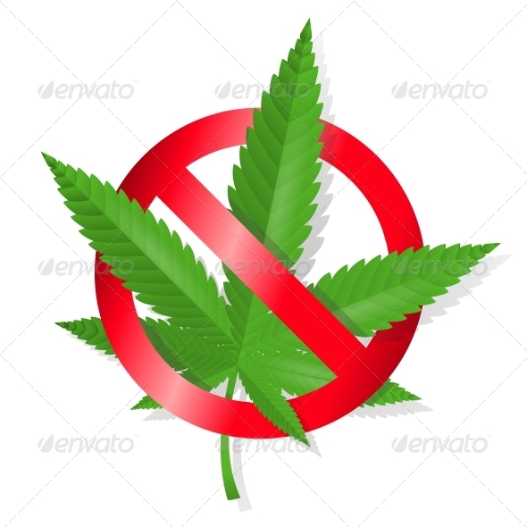 GraphicRiver Stop Marijuana Sign 6498072