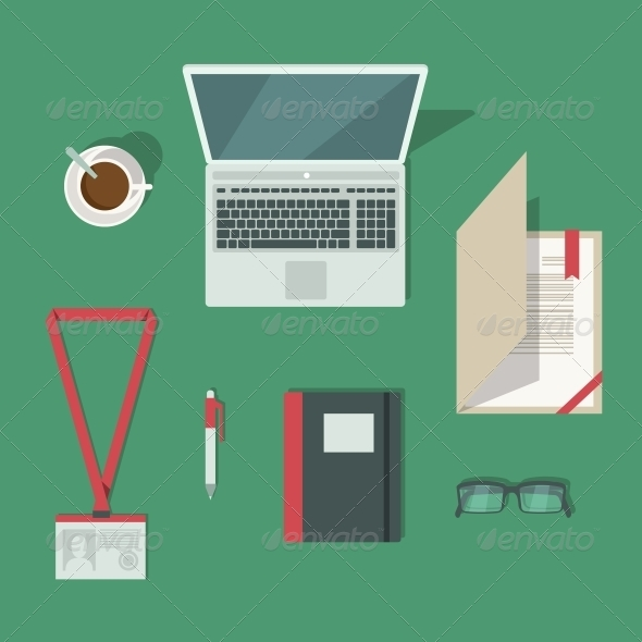 GraphicRiver Classic Office Workplace Desk 6498083