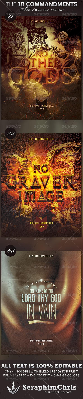 GraphicRiver The 10 Commandments Flyer Templates Set 1 6498327
