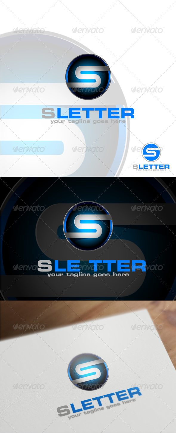 GraphicRiver S Latter Logo Template 6498336