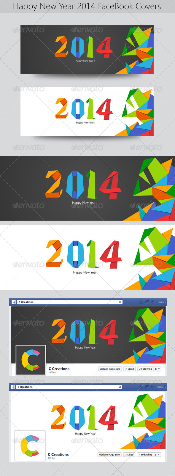 GraphicRiver Happy New Year FB Timeline 6498766