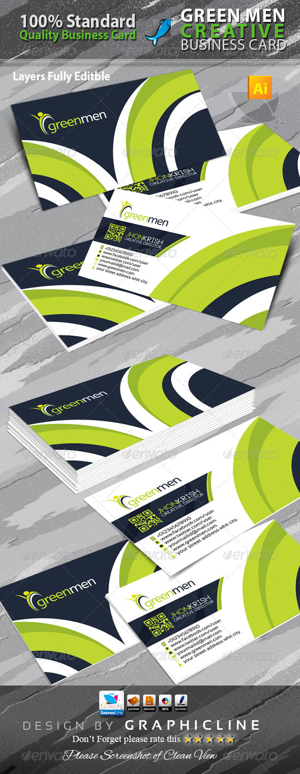 GraphicRiver Greenmen Creative Business Card 6498939
