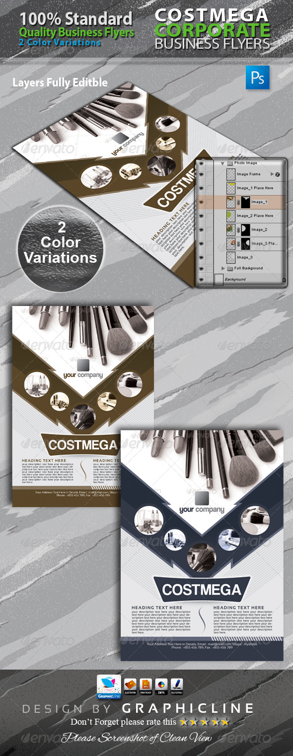 GraphicRiver Corporate Business Flyers Adds 6499014