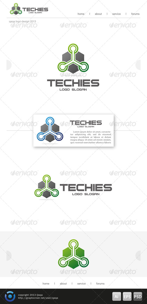 GraphicRiver Techies Logo 6499098