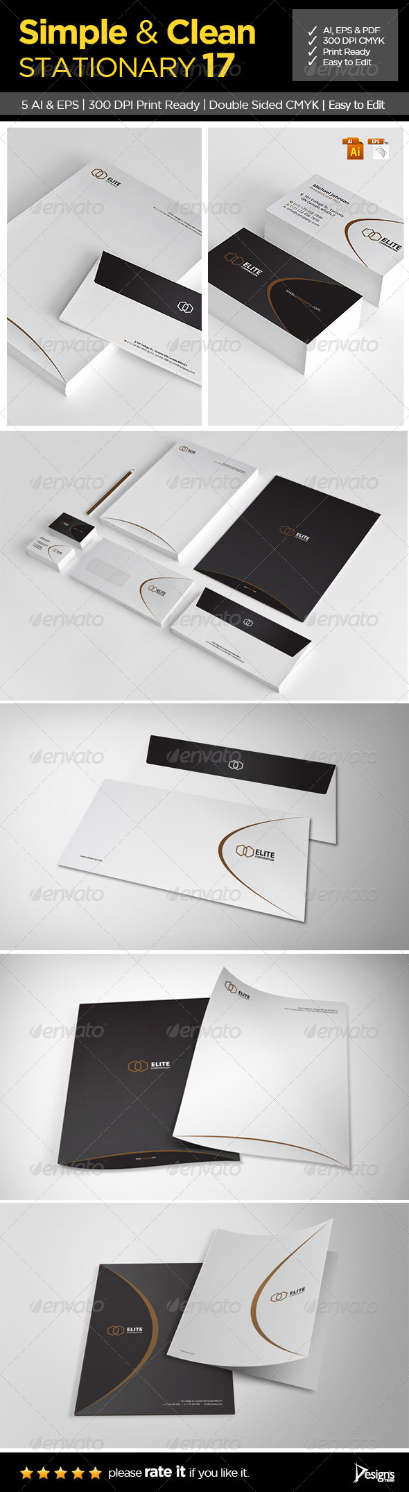 GraphicRiver Simple and Clean Stationary 17 6499571
