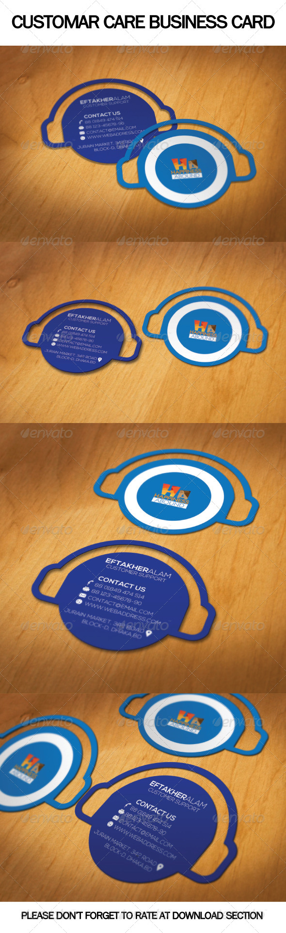 GraphicRiver Customar Care Business Card 6499766