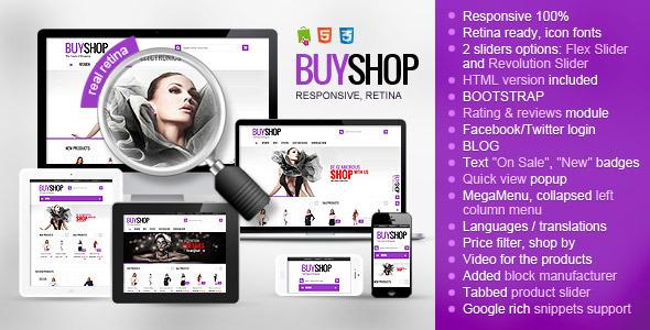 BuyShop - Responsive Retina ready PrestaShop theme - PrestaShop eCommerce