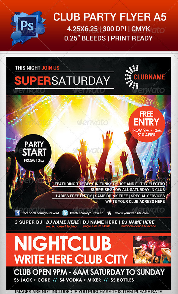 GraphicRiver Club Party Time Flyer Template v.2 6500066