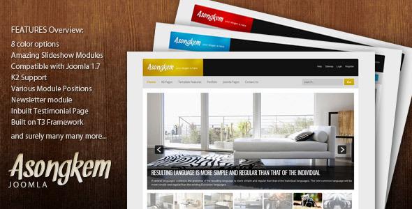 Asongkem - Premium Responsive Joomla Creative Template