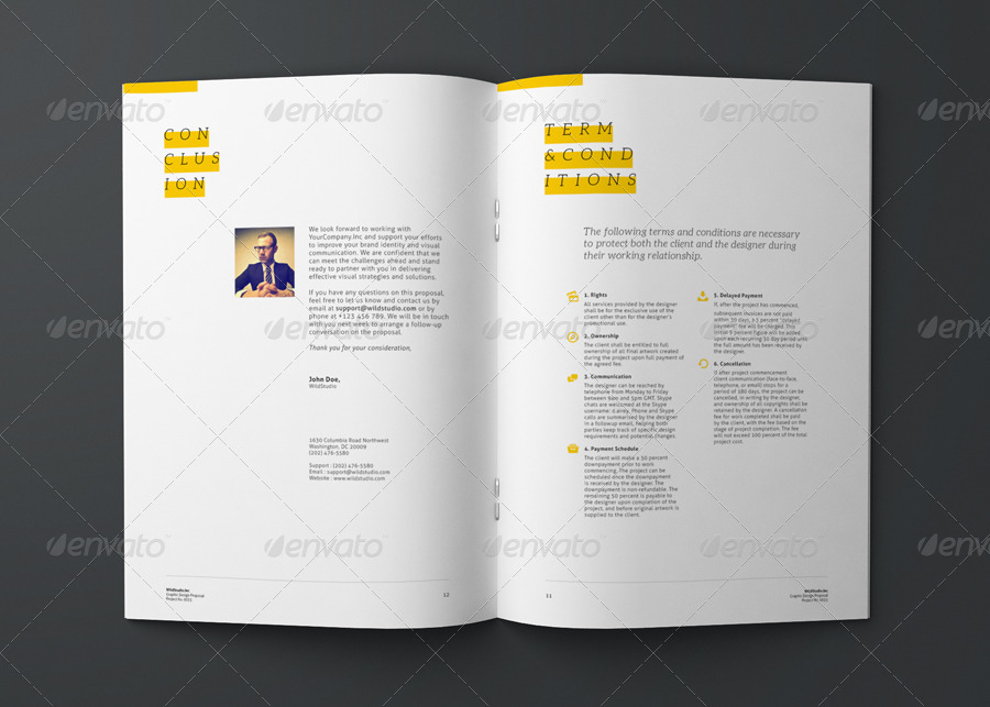 Graphic Design Project Proposal Template by CodeID – Graphic Design Proposal Template