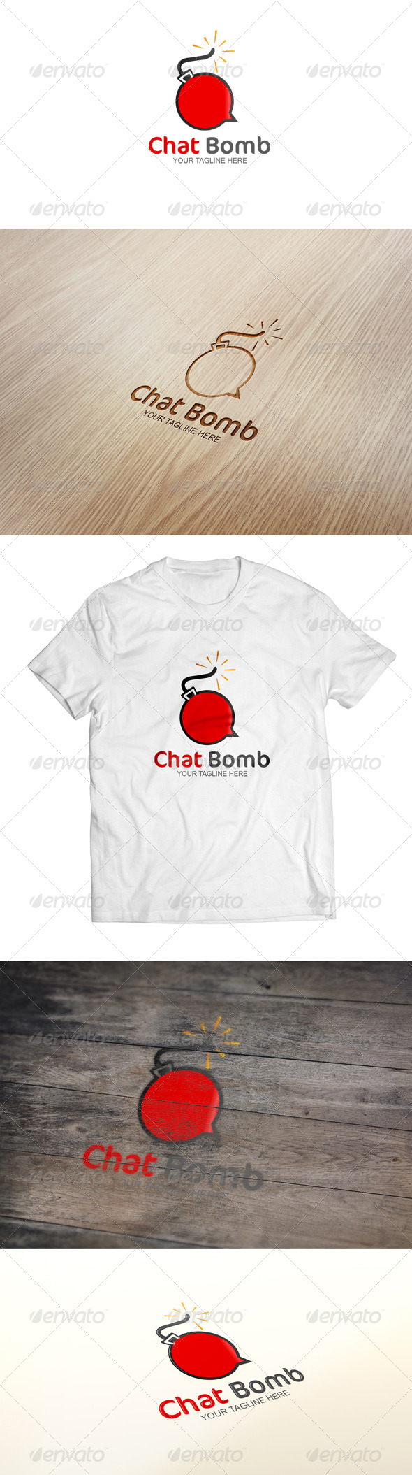 GraphicRiver Chat Bomb Logo Template 6500574