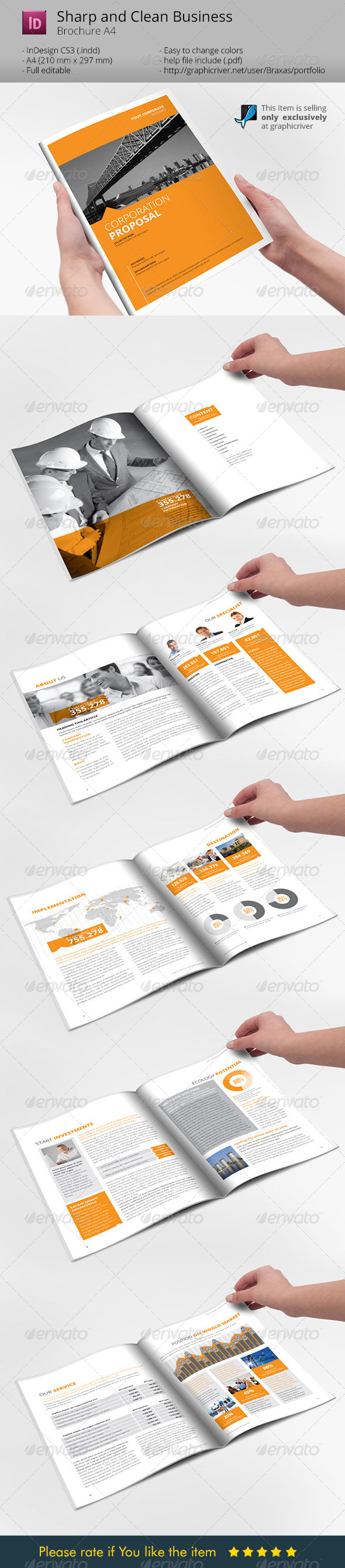 GraphicRiver Sharp and Clean Business Brochure 6500744