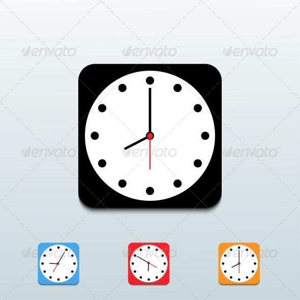 GraphicRiver Clock Icon Set 6500811