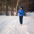 Handsome Man In Winter Forest