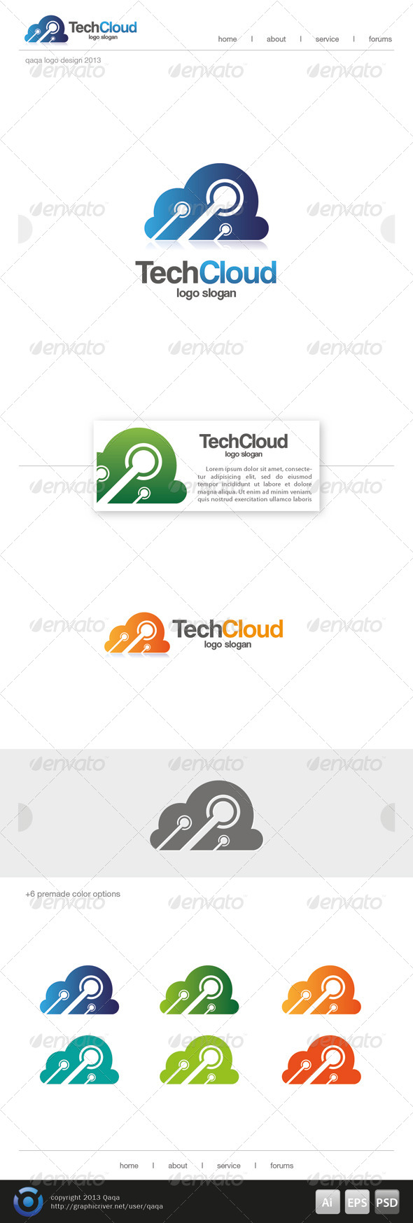 GraphicRiver Tech Cloud Logo 6501100