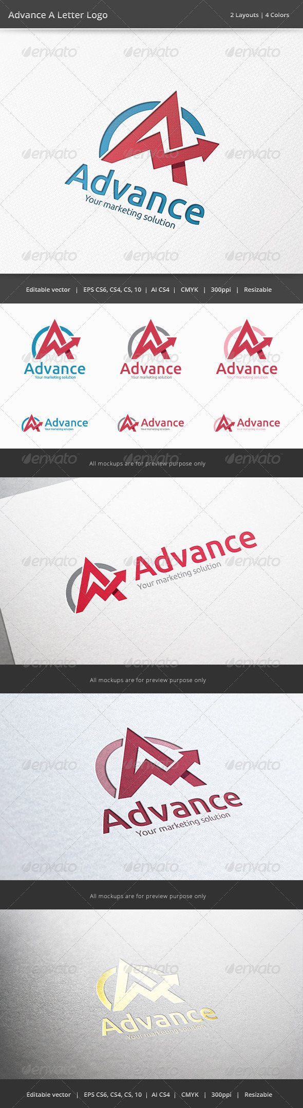 GraphicRiver Advance A Letter Logo 6501223