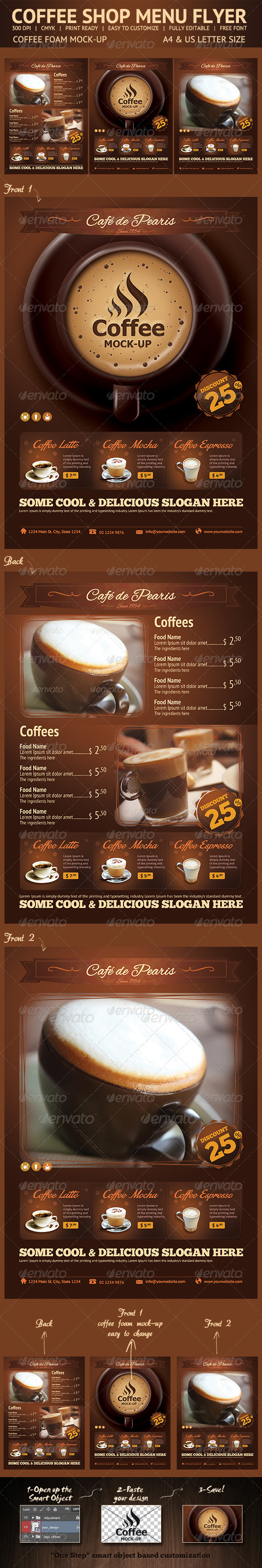 GraphicRiver Coffee Menu Flyer 6501232
