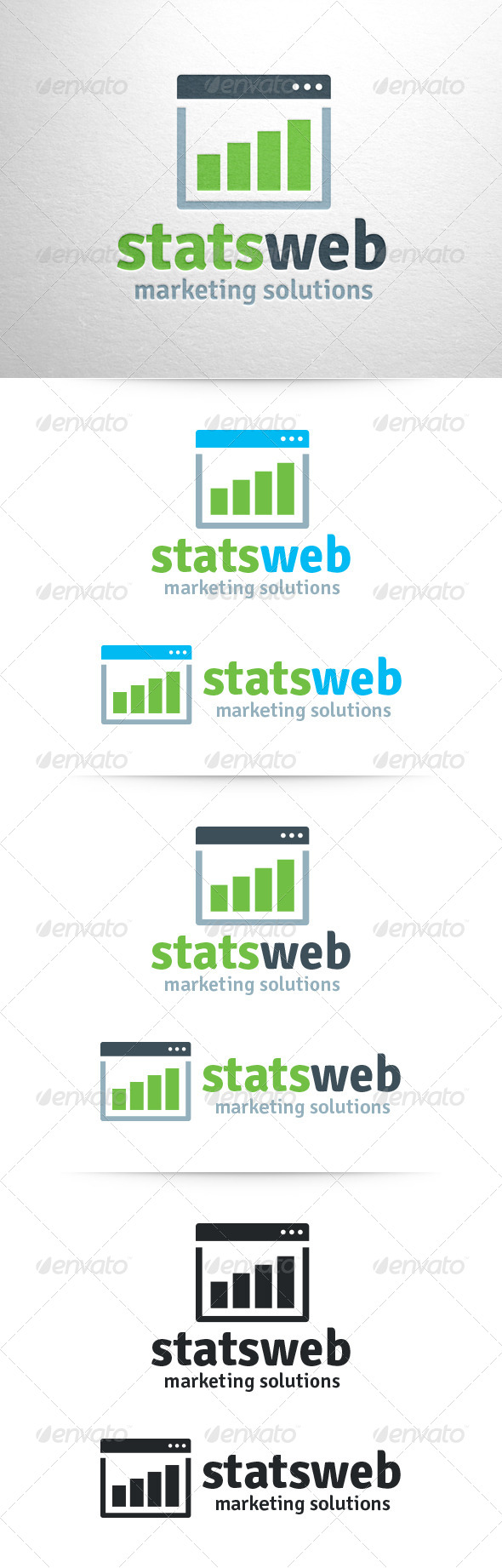 GraphicRiver Stats Web Logo Template 6501444