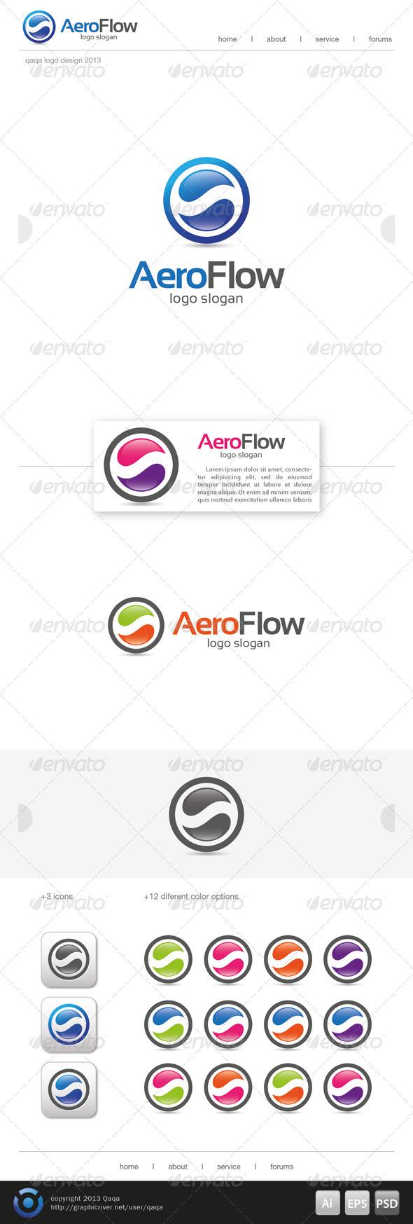 GraphicRiver Aero Flow Logo 6501517