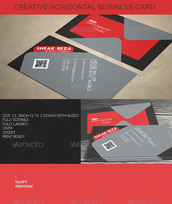 Creative Horizontal Business Card  - Creative Business Cards