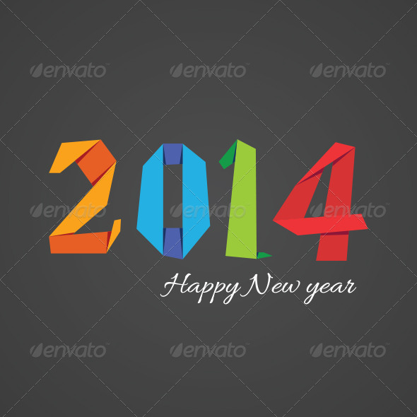 GraphicRiver Happy New Year 2014 Background 6501527