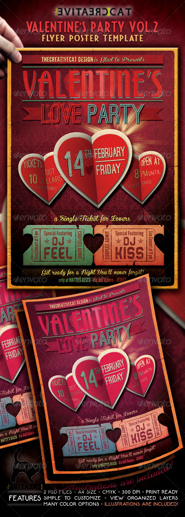 GraphicRiver Valentine s Party Flyer Poster Vol 2 6501845