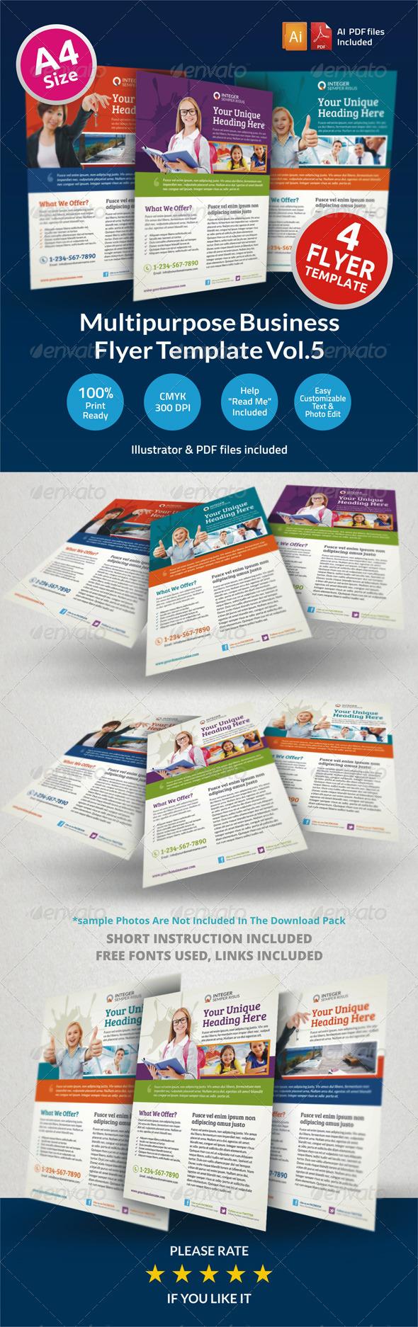 GraphicRiver Multipurpose Business Flyer Vol.5 6501860