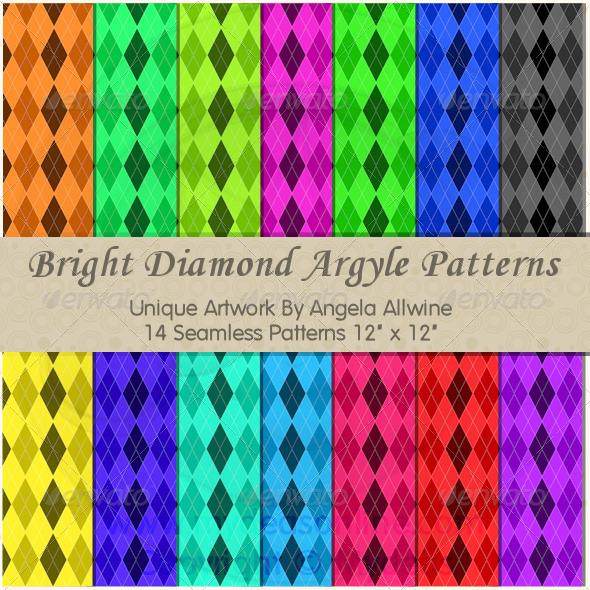 GraphicRiver Bright Diamond Argyle Pattern Bundle 6502197