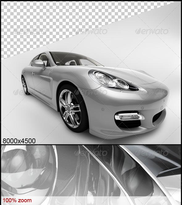 GraphicRiver Black Car 4 6502206