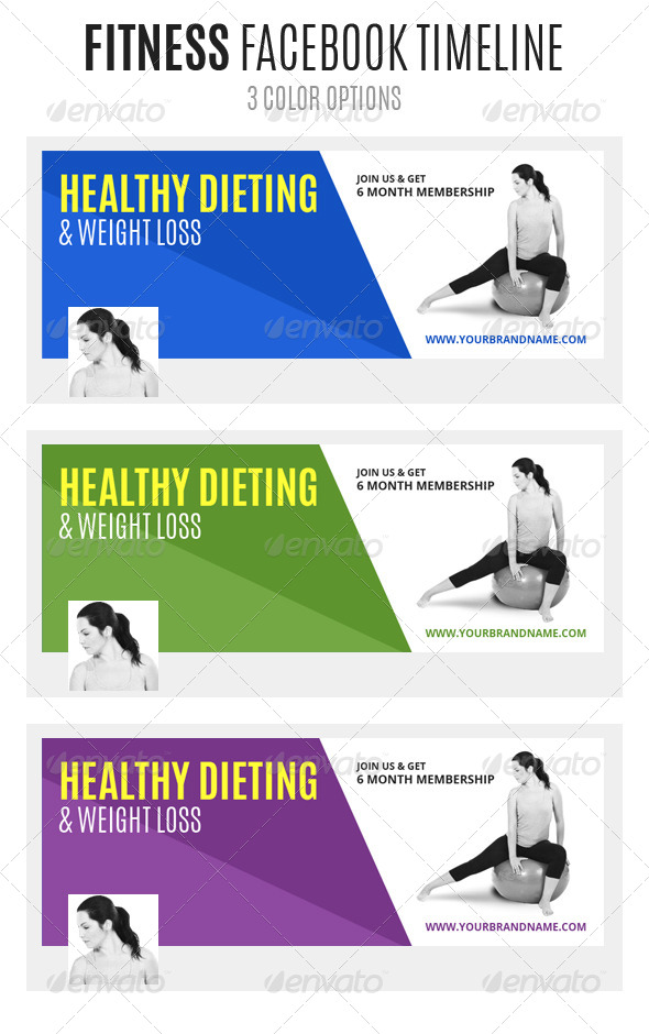 GraphicRiver Fitness Facebook Timeline 6502214