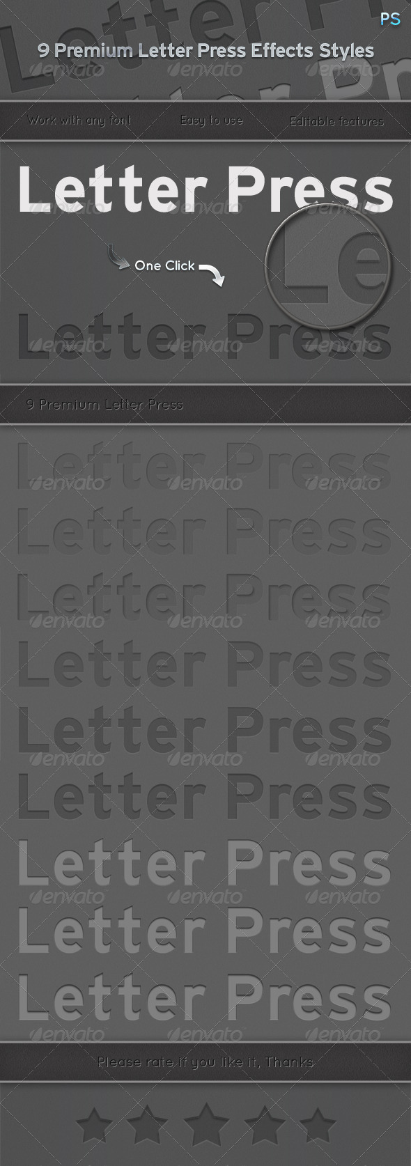 GraphicRiver 9 Premium Letter Press Effects Styles 6502215