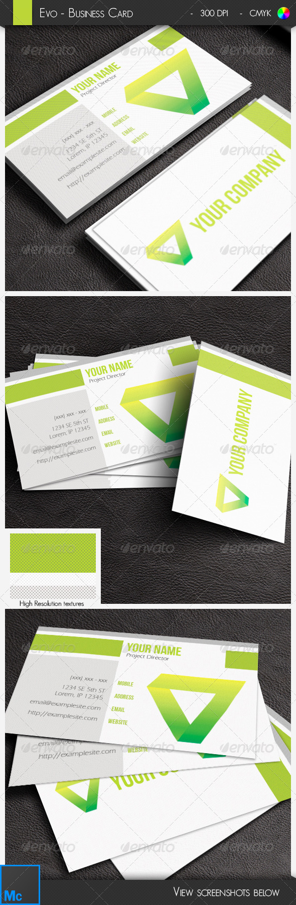 GraphicRiver Modern Green Business Card 6440729