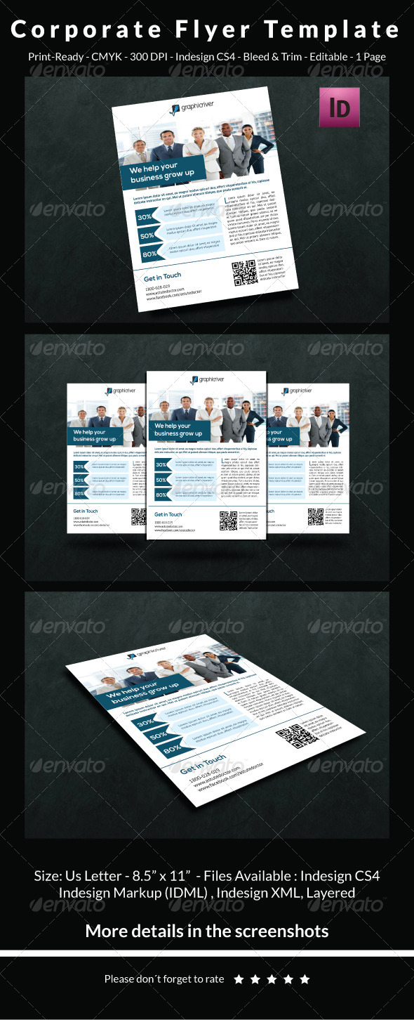 GraphicRiver Corporate Flyer Template 6502501